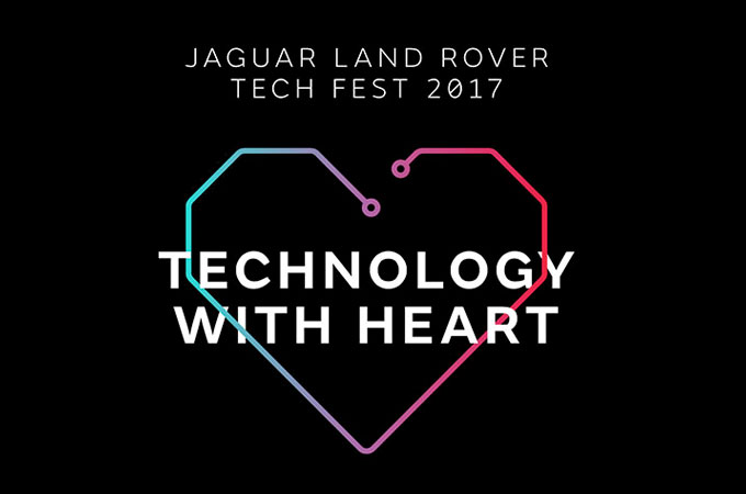 Technology With Heart Jaguar Tech Fest Poster.