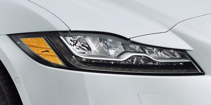 Jaguar signature 'J' Blade LED Daytime Running Lights - One of the Many Jaguar XF Specifications Available