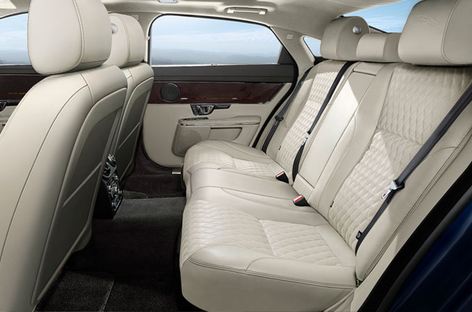 Jaguar XJ Interior Front and Rear Seats.