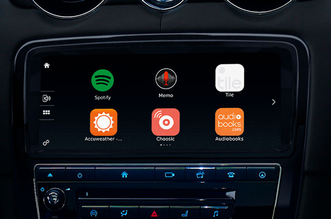 Jaguar XJ InControl Apps Screen.