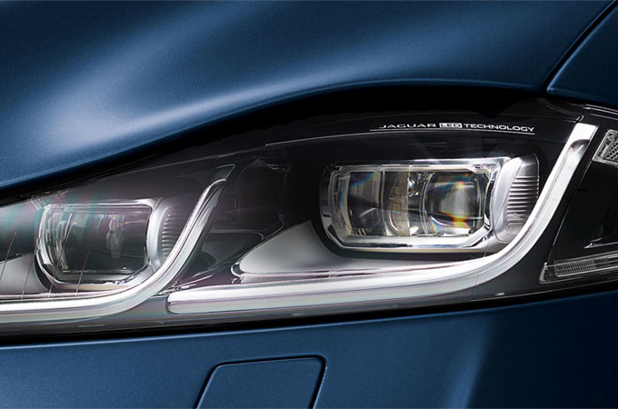 Jaguar XJ LED Headlights.