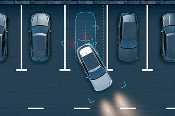 Jaguar XJ Park Assist Computer Generated Image.