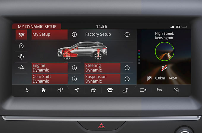 E-PACE Configurable Dynamics setting for enhanced driving control.