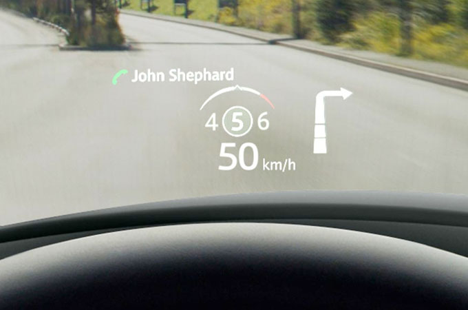 Jaguar E-Pace Head-Up Display.