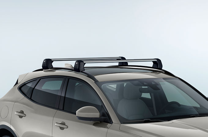 Image of Jaguar E-Pace with Roof Cross Bars