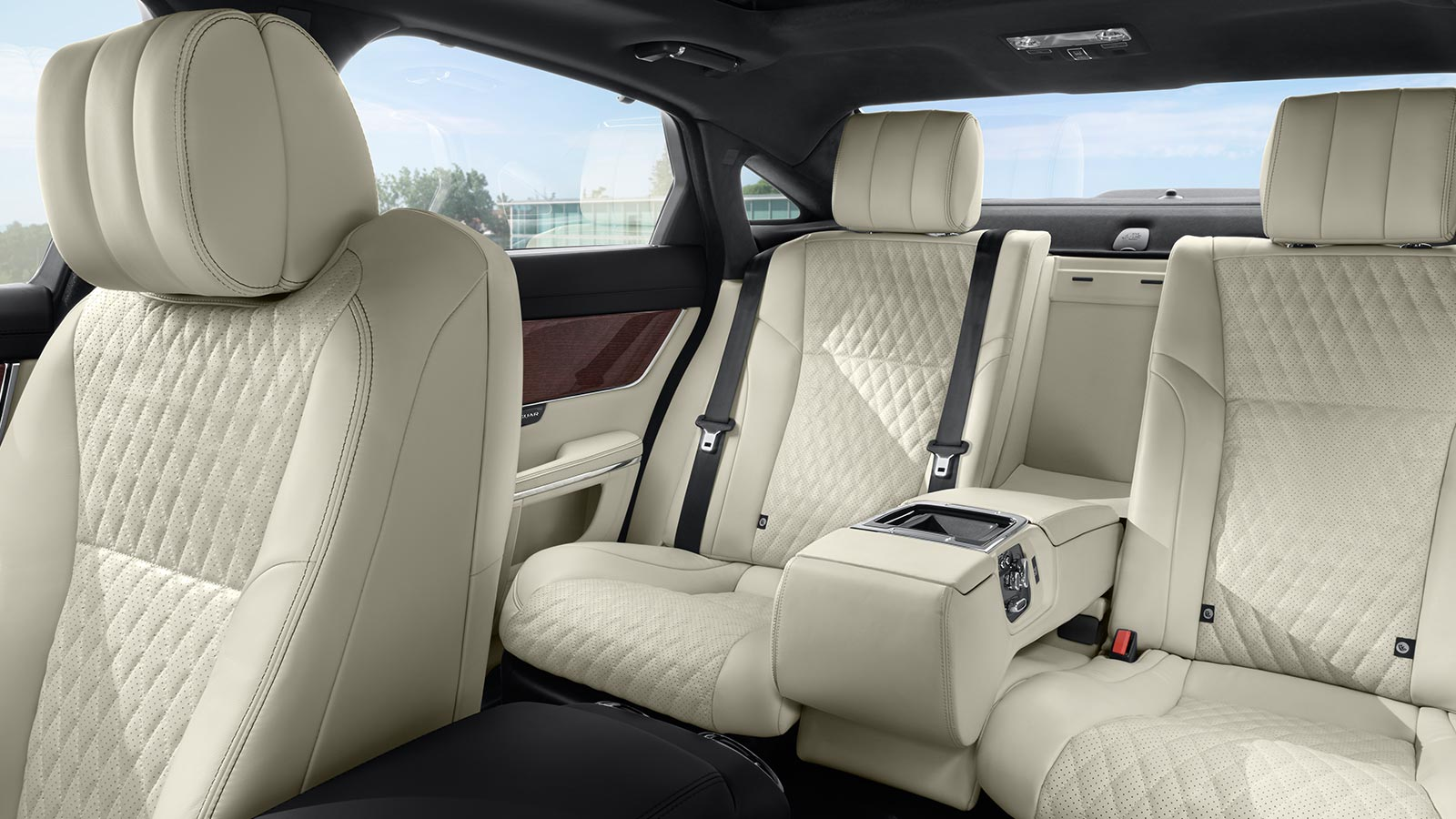 XJ Portfolio Interior Front and Rear Seats.