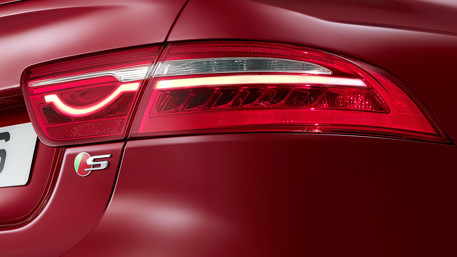 Jaguar XE S tail lights.