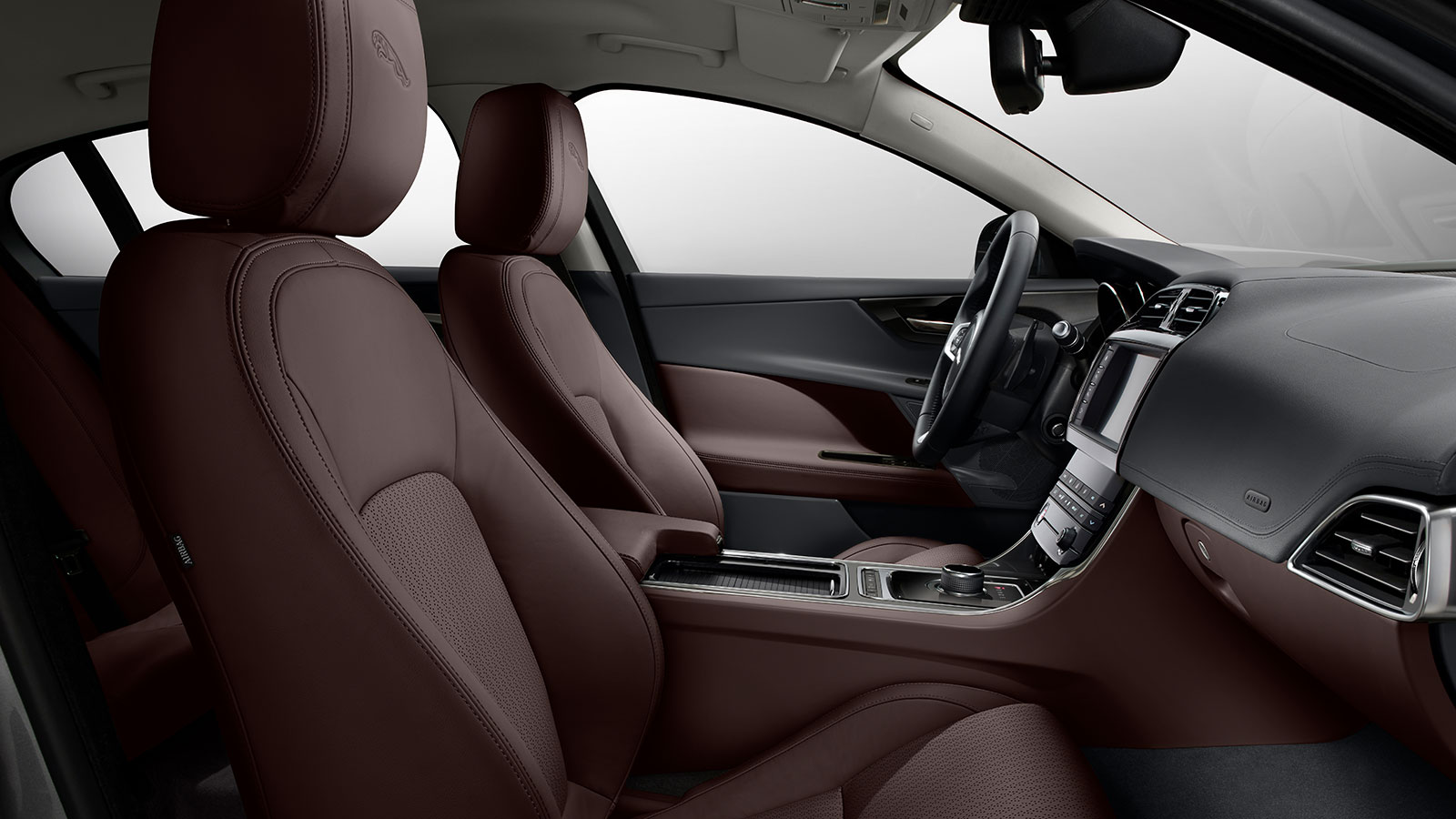 Interior view of Jaguar XE.