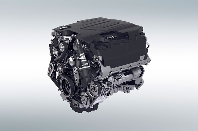 Jaguar F-Type V8 Engine.