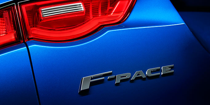 F-PACE Badging on Rear of Car