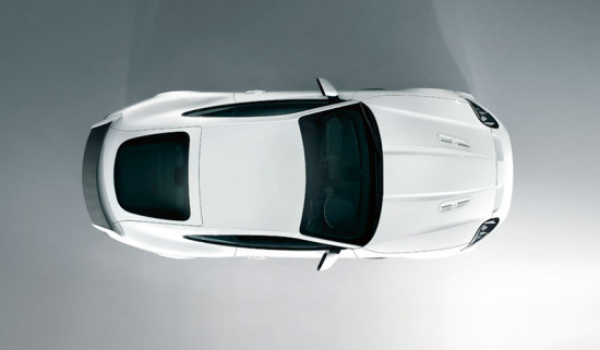 Jaguar F-TYPE in white.
