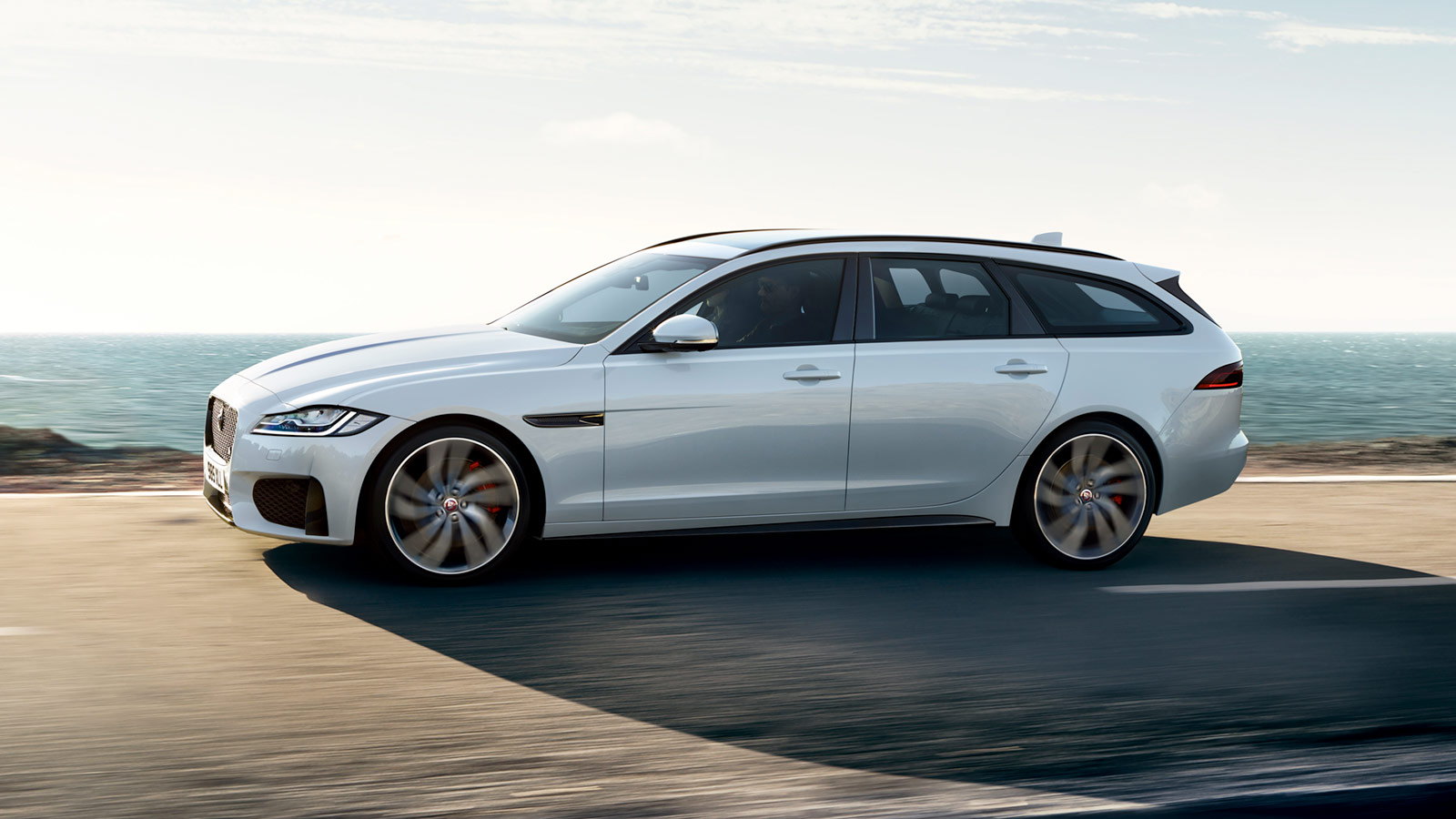 XF Sportbrake Driving By Sea.
