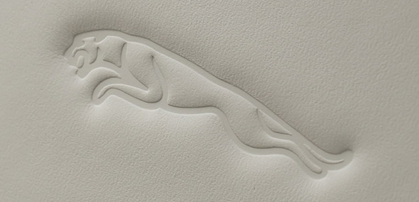Jaguar Leaper embossed on headrest