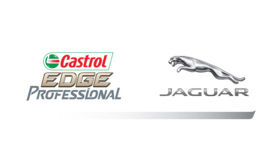 Logos for Jaguar and Castrol EDGE Professional.
