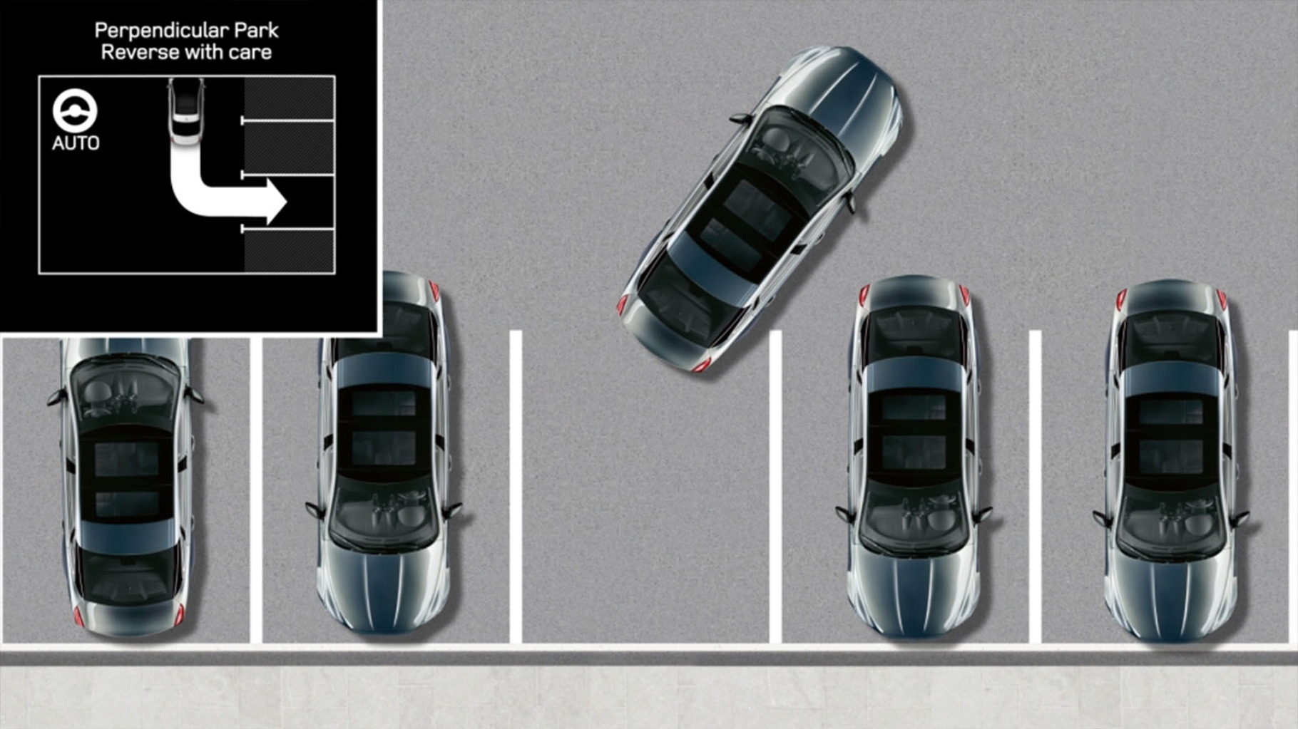Still frame from InControl Touch Pro: Park Assist information video.
