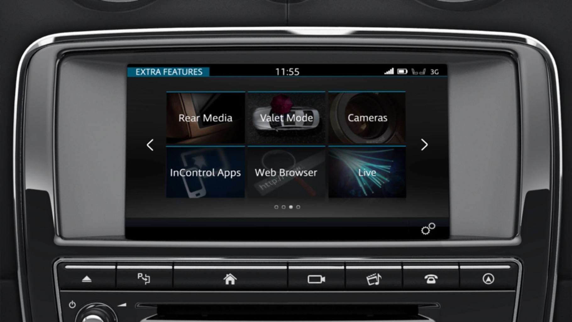 Jaguar XJ's InControl Touch Pro: Extra Features information video.