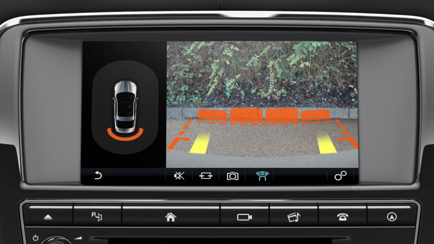 Jaguar XJ's InControl Touch Pro: Parking Aid System information video.