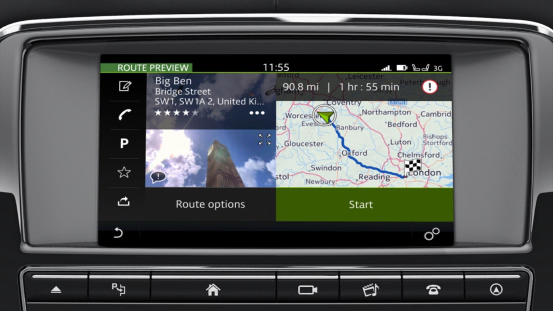 Jaguar XJ's InControl Touch Pro: Navigation - Entering a Destination information video.