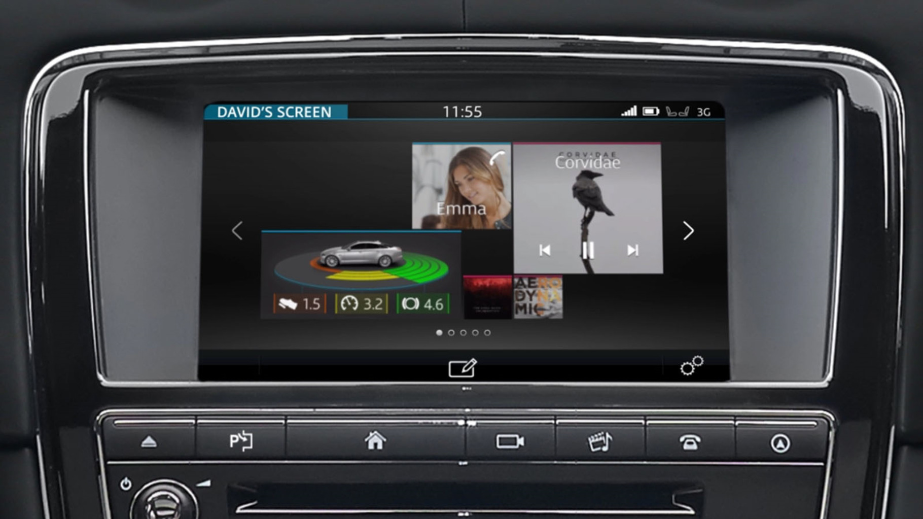 Jaguar XJ's InControl Touch Pro: Customisable Home Screen information video.