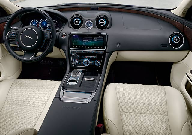 Jaguar XJ50 Interior Craftmanship with Jaguar Leaper embossed into headrests