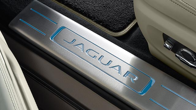 Jaguar Script Illuminated Treadplates