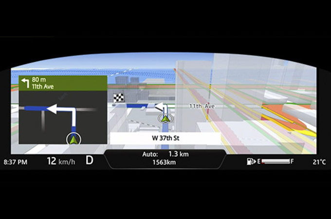 Incontrol Touch Pro Virtual Instrument Cluster with Map View