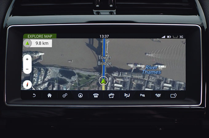 "Close-up of Navigation Pro on the Touch Pro 10"" Display"