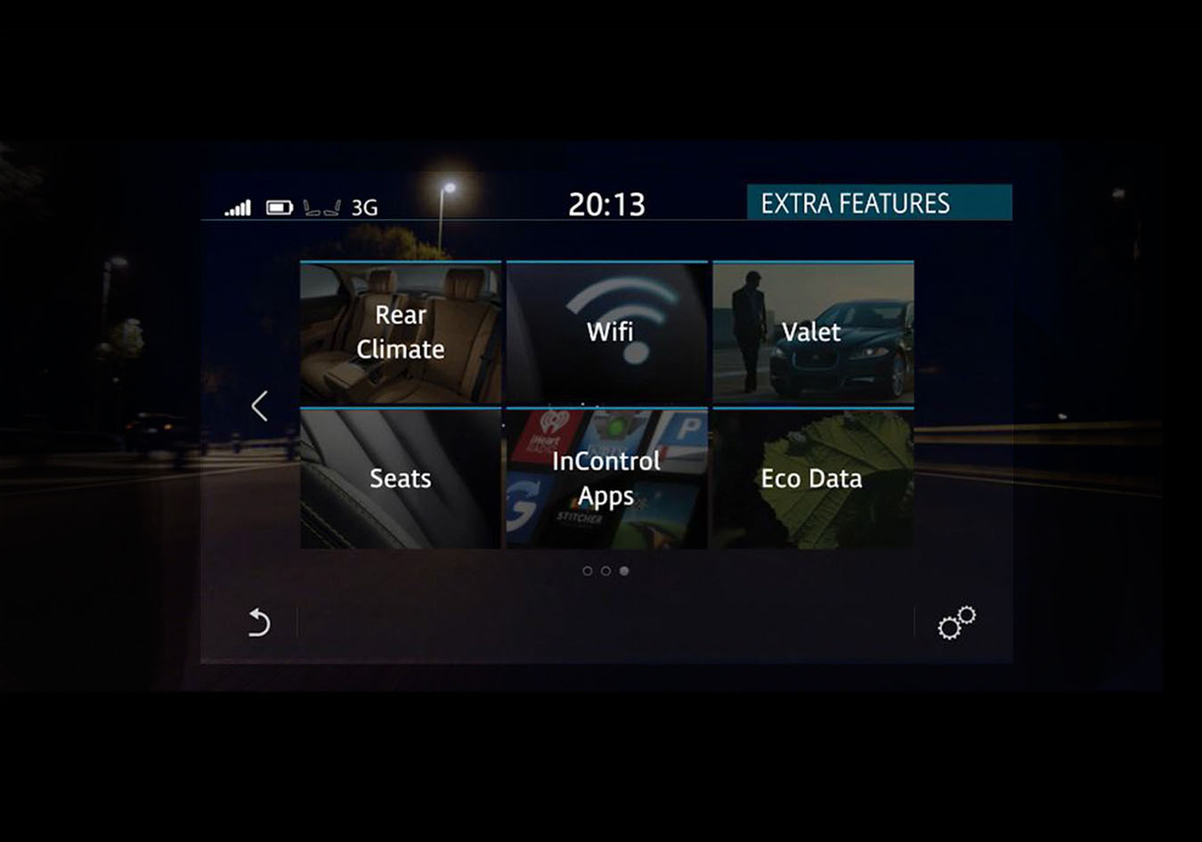 "Image of the Connect Pro menu on the Touch Pro 10"" Touch Screen"