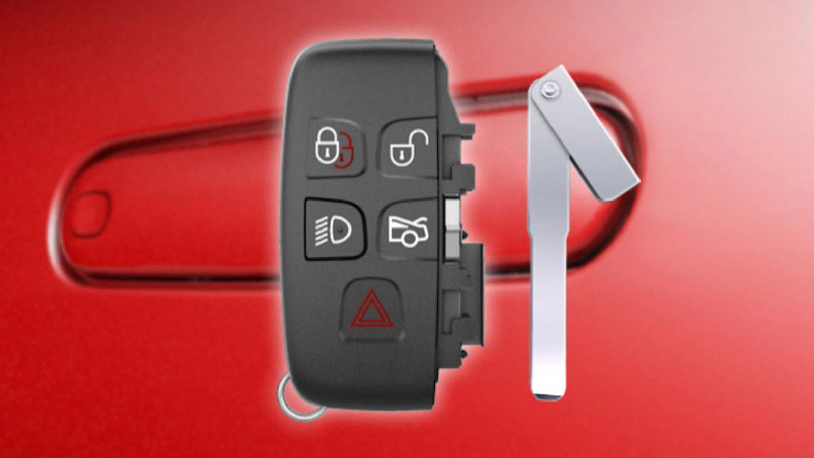 Jaguar Smart Key With Emergency Keyblade Detached