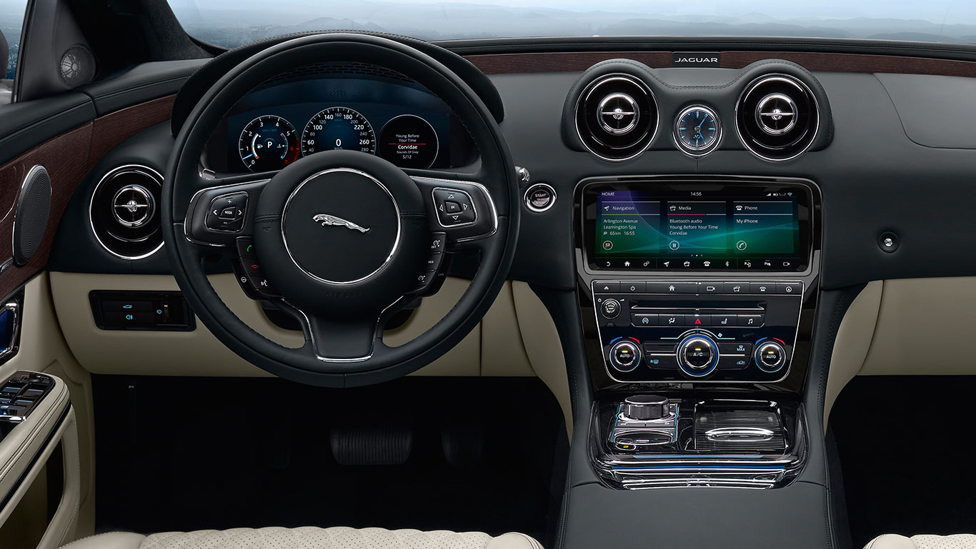 JAGUAR XJ IN-CAR INFOTAINMENT AND SECURITY SYSTEM.