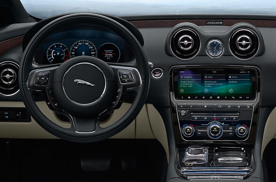 Jaguar XJ state-of-the art in-car infotainment and security system