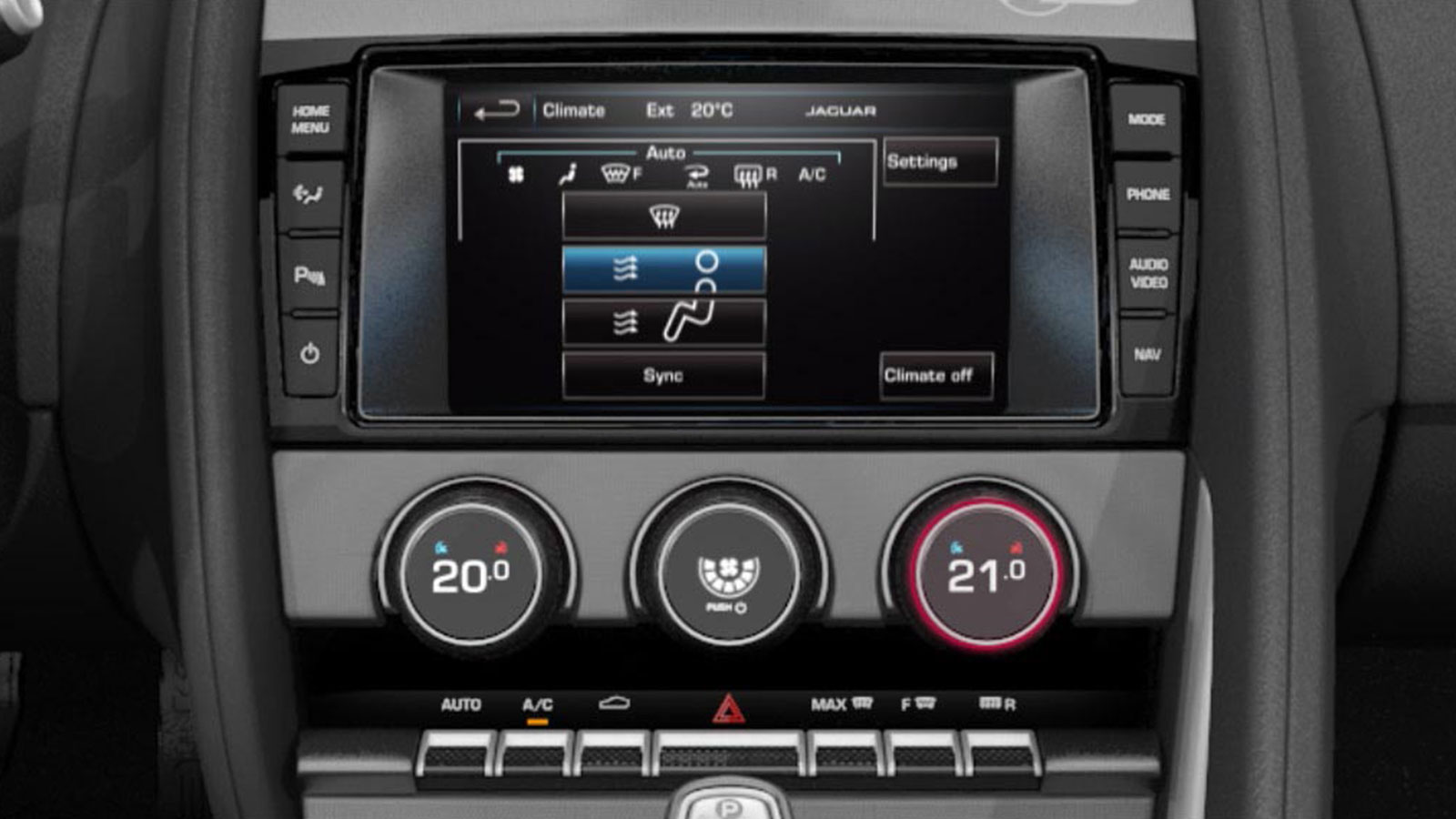 Automatic Climate Control Touch Screen Dsiplay