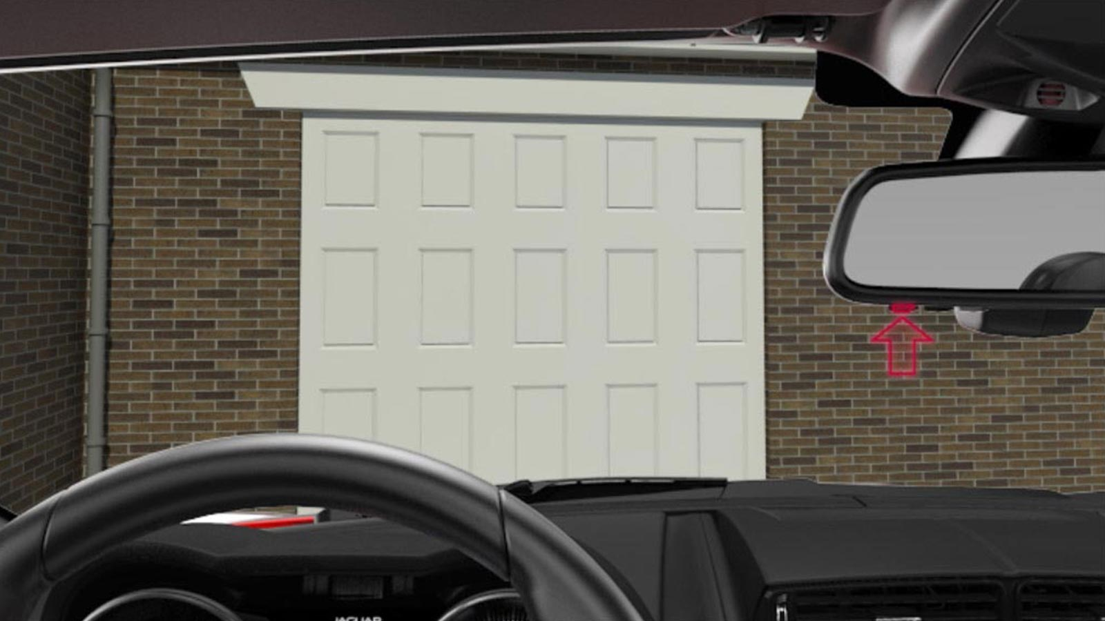 A White Garage Door Being Opened Wirelessly