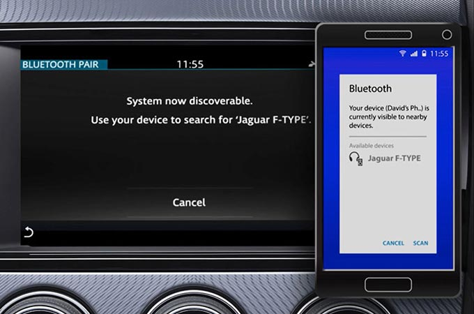 Incontrol Touch Pro In-Car Bluetooth Pairing Display