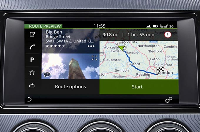 Incontrol Touch Pro Navigation Display