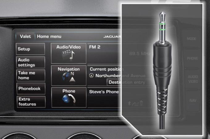 Audio Connectivity System Connecting Via Aux Screen