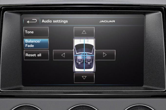 Audio System Settings On-Screen Display