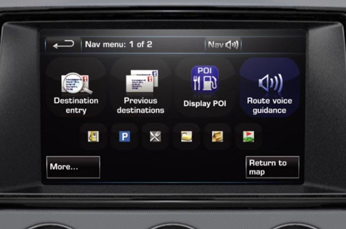 Navigation System And Voice Guidance Screen Display