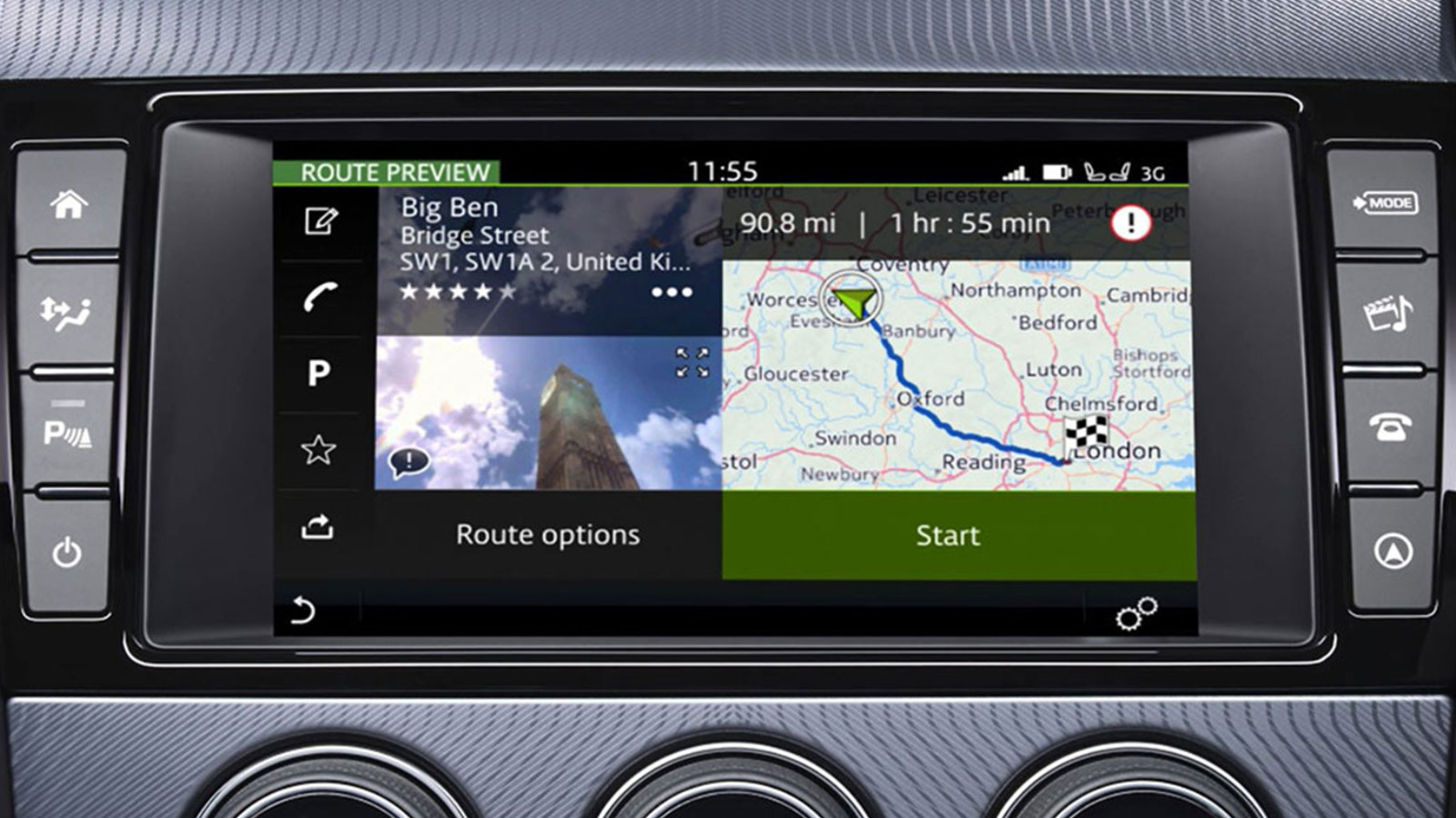 Incontrol Touch Pro Navigation On-Screen Display.