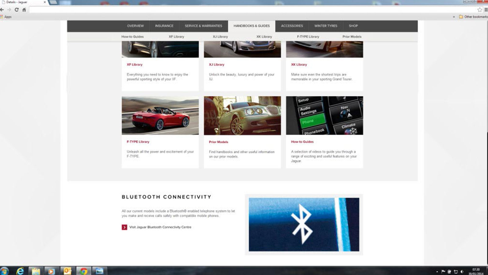 Screenshot of Bluetooth Connectivity Web Page