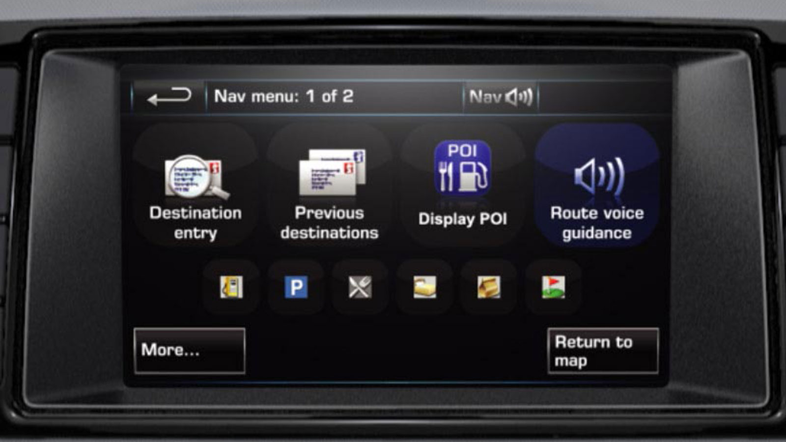 Incontrol Navigation Voice Guidance On-Screen Display.