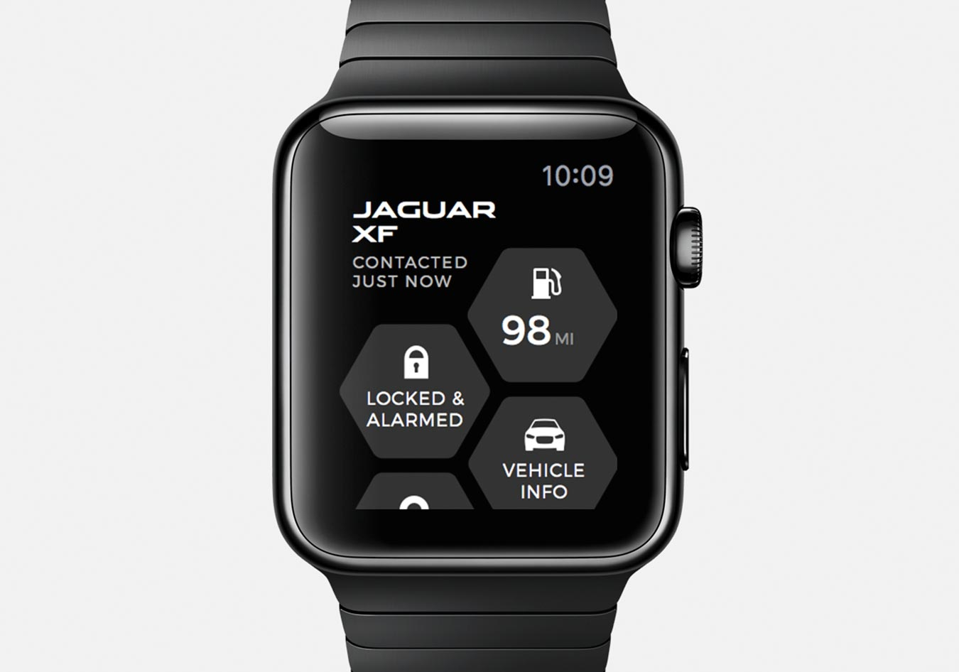 Close-up of Remote Smartphone App on a Smart watch