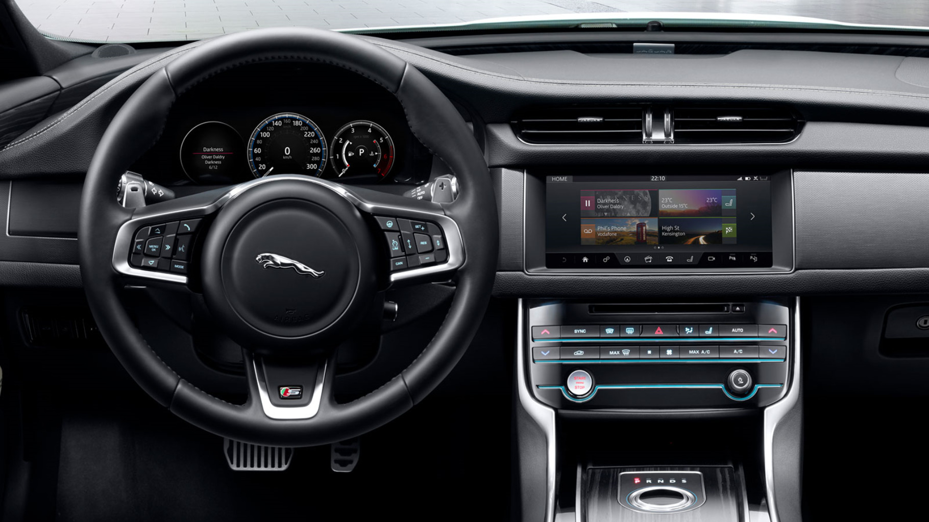 "Jaguar Interior focussing on TOUCH PRO 10"" display."
