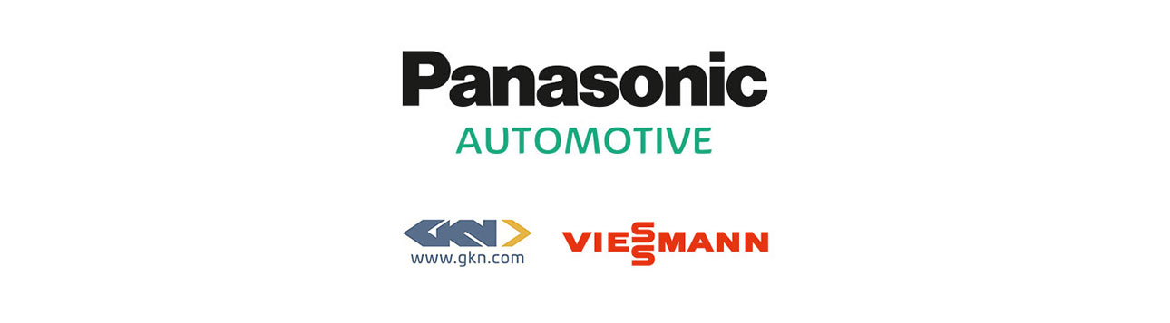A list of sponsors for Jaguar Racing, which include: Panasonic, gkn.com and Viessmann.
