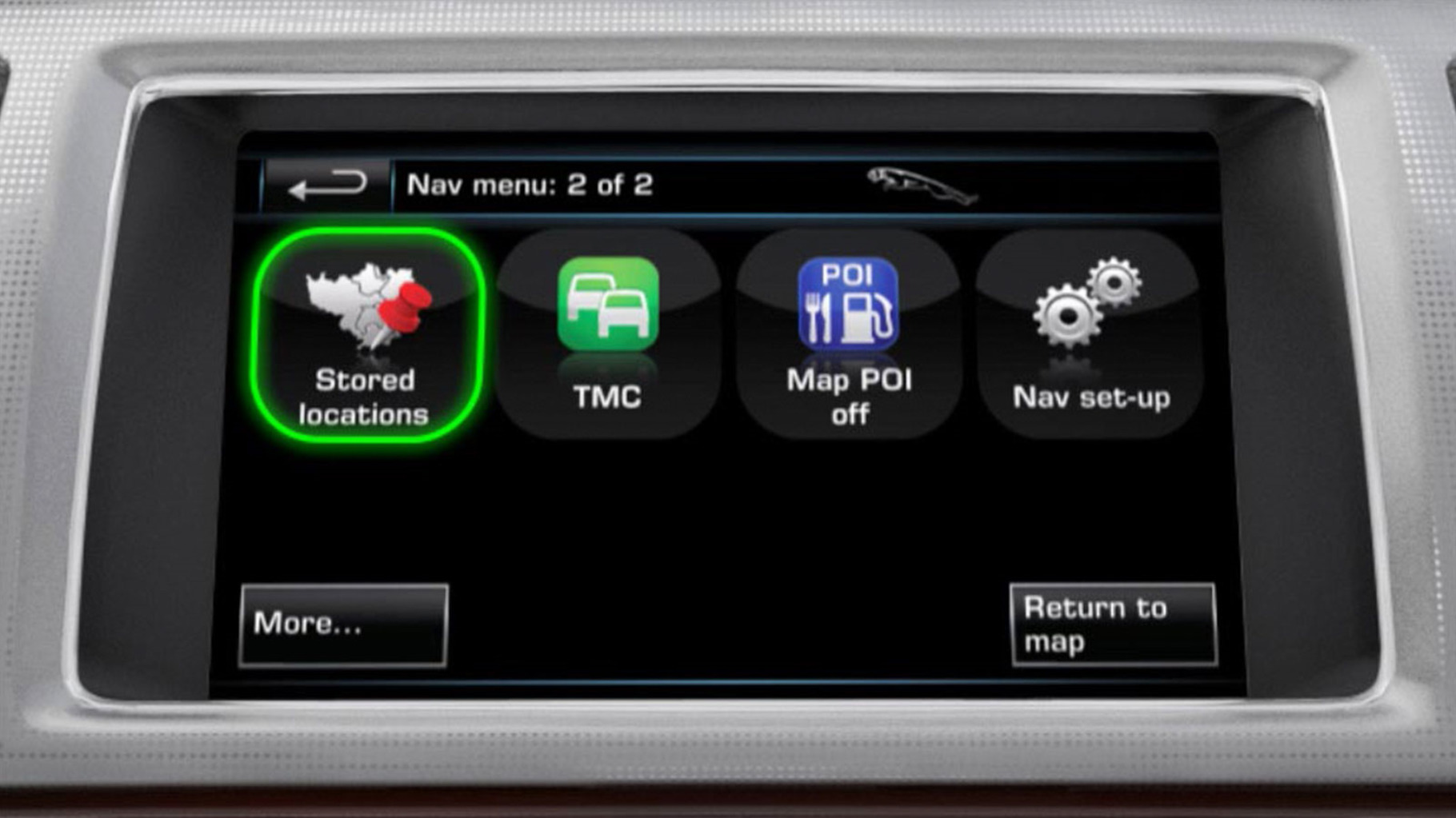 Jaguar XF 2012 Memory Points