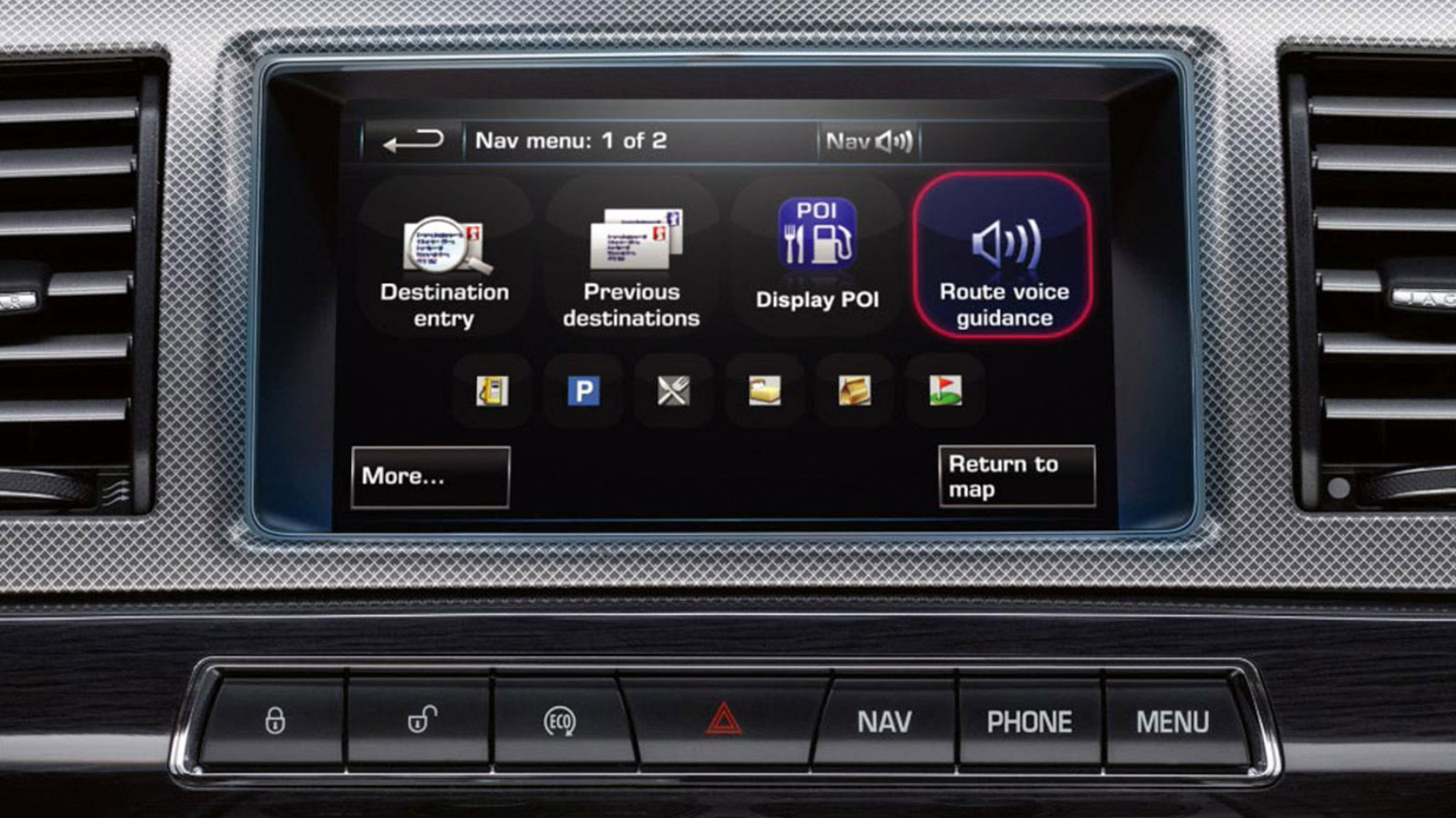 Jaguar XF Navigation System - Voice Guidance