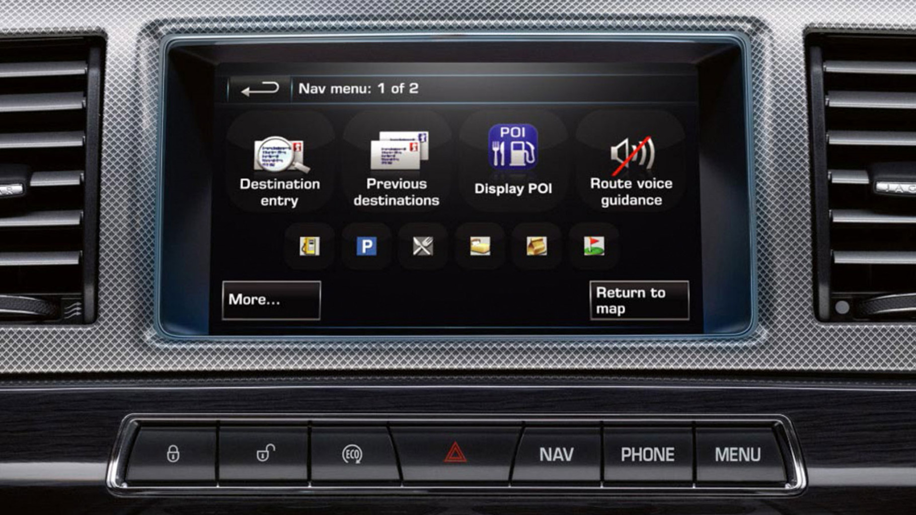 Jaguar 2014 Navigation Memory Points