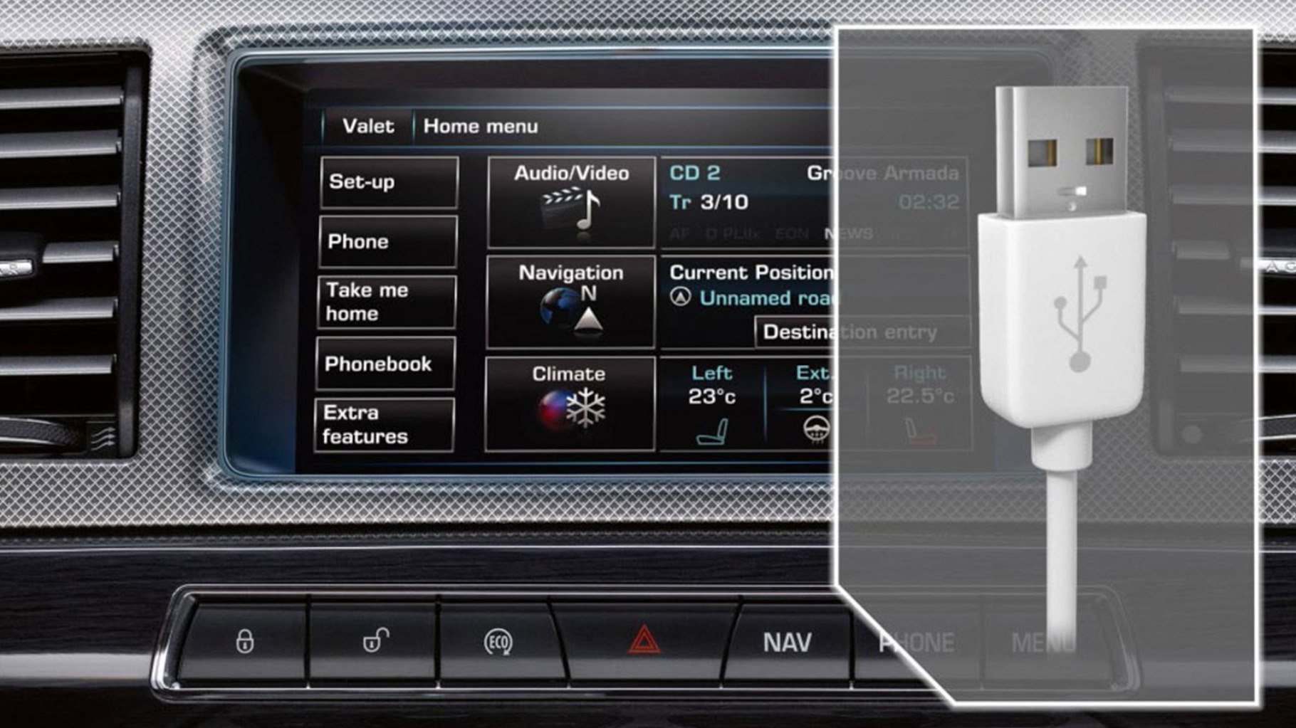 Jaguar XF Connectivity Ipod