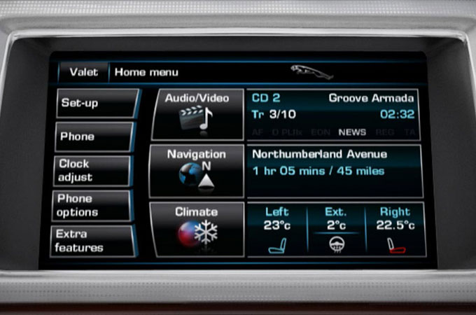 Jaguar XF Touchscreen