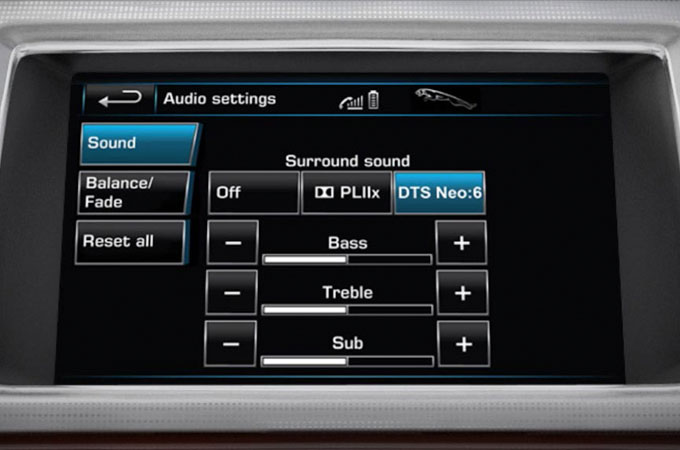 Jaguar XF Audio System